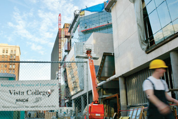 Staff Photo: When Vista Community College moves to its new address on Addison Street this summer it will carry the new name Berkeley City College..