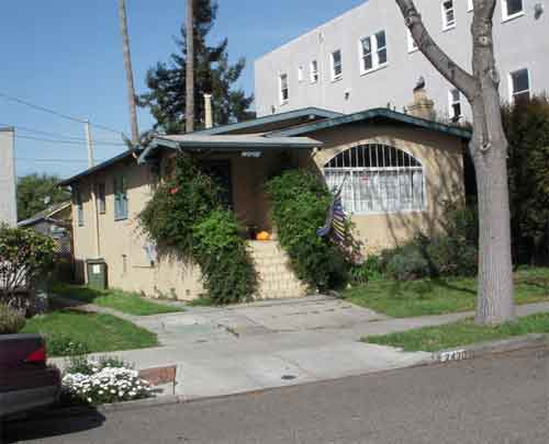 2430 Spaulding Street in 2009; this was the La Lanne family home in