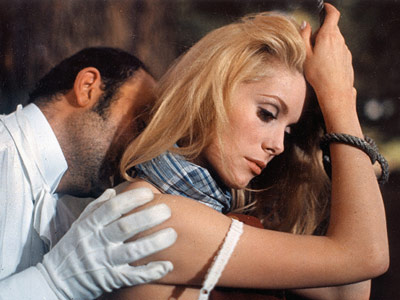Directors Luis Buñuel directs the coachman on the proper technique for ravishing Catherine Deneuve in <i>Belle de jour</i>.
