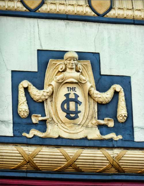 The ornamented upper façade of the UC Theatre will remain intact when the building reopens.