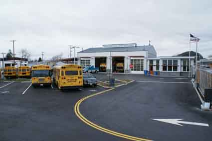 BUSD's new $10 million transportation yard will save the district $450,000 annually.