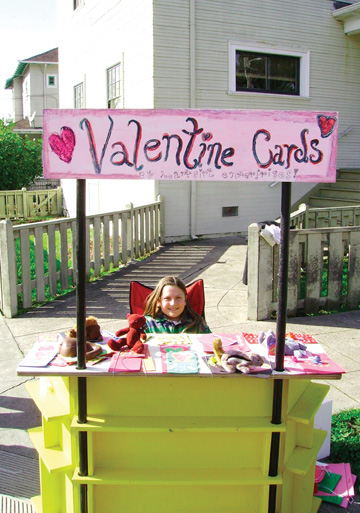 "In the weeks leading up to Valentine's Day, Makayla Grace Miller was offering her own handmade cards from a street-side stand. The young entrepreneur (her business is called ""Heartgirl Enterprises"" and prices ranged from $1 to $1.50) reported good sales, using a bit of old-fashioned street-corner marketing.."