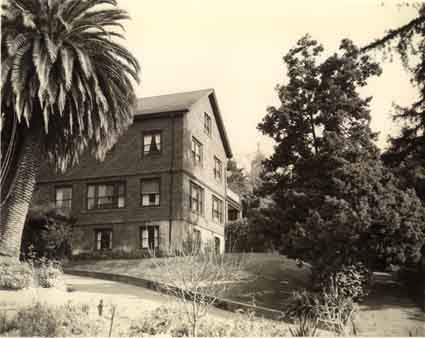 The Burke house in the 1970s.