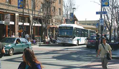 Telegraph Avenue north of Dwight Way could become two-way under a plan for Bus Rapid Transit.