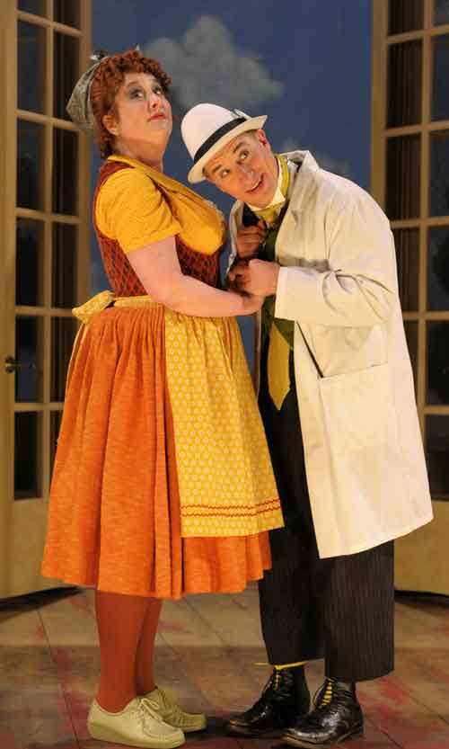 Steven Epp and Julie Briskman (left) in A Doctor in Spite of Himself