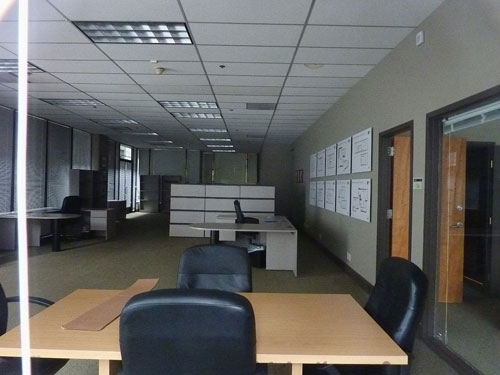 Interior of The Arpeggio Building's Sales Office, February, 2011.