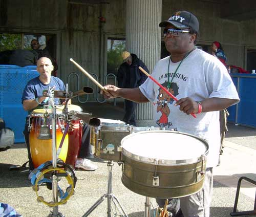 The drummers at the Ashby BART station met every Saturday and Sunday.