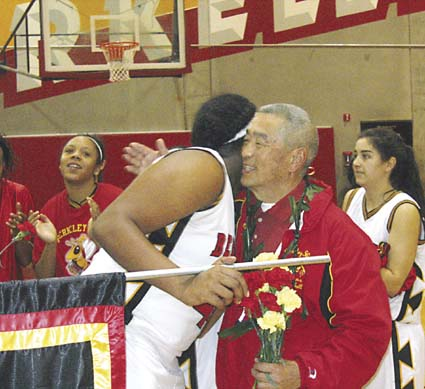 "Gene ""Nak"" Nakamura retired Feb. 16 after 25 years of coaching at Berkeley High. Photograph by Riya Bhattacharjee."