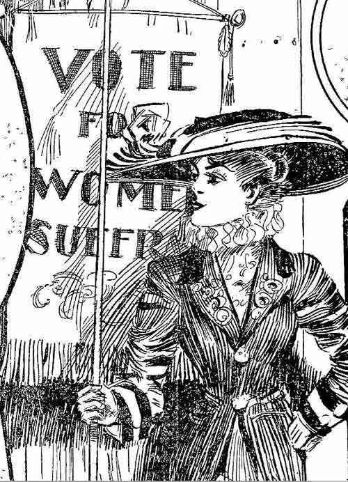 A drawing in the Oakland Tribune in 1909 captured the spirit of the campaign for