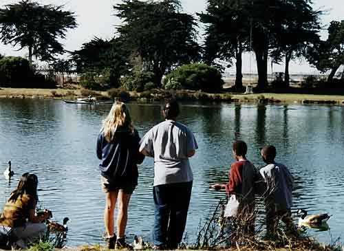 Children Enjoying Berkeley's Aquatic Park