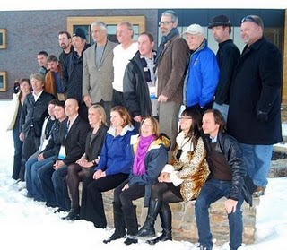 The film crew and staff for 'The Cove' gather for a photo after the premiere at Sundance Film Festival in Park City in January