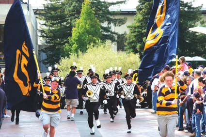 """Gr-rr-rah, Gr-rr-rah Gr-rr, ... rr-rah!""  A new Cal song book, Songs of California: The U.C. Berkeley Tradition, has just been published. See story, page six."