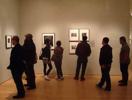 Watching people watch art is one of the opportunities at SF MOMA.