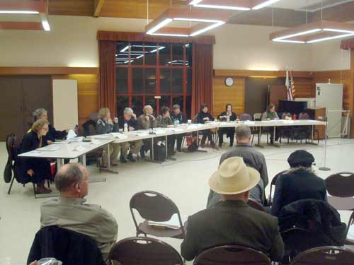 "The new Downtown ""SOSIP"" Subcommittee gathered in the North Berkeley Senior Center for its first meeting Monday, March 10, 2010."