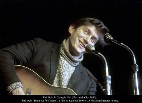 Phil Ochs in Carnegie Hall in 1966