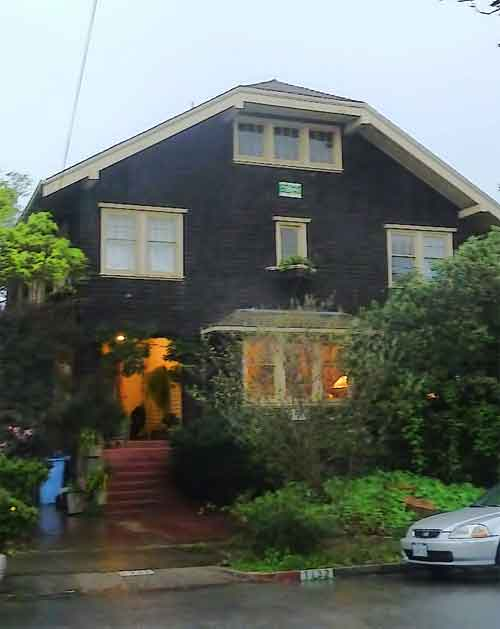 Linda Maio's home, on Berkeley Way, where several of the meeting