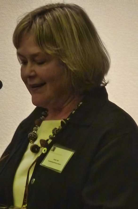 Award recipient Ginger Ogle described the founding of the Berkeley Parents Network.