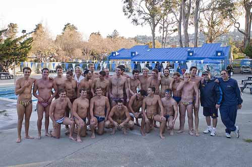 The Cal Men's Water Polo Team at the King Pool.