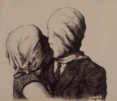 Rene Magritte's ≤i≥Duo≤/i≥ (1928), brush and India ink on paper.