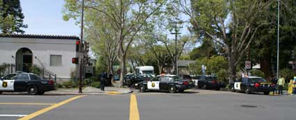 Berkeley police Wednesday arrested a Berkeley High School student in downtown Berkeley in connection with a robbery.
