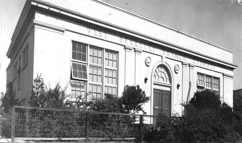 The original facade of the West Branch library