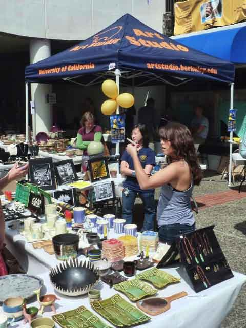 The ASUC Art Studio held an open air sale of handmade ceramics, jewelry, candles, and photographs.