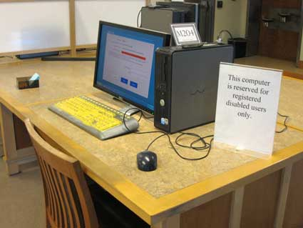 Computer access at the North Branch Library.