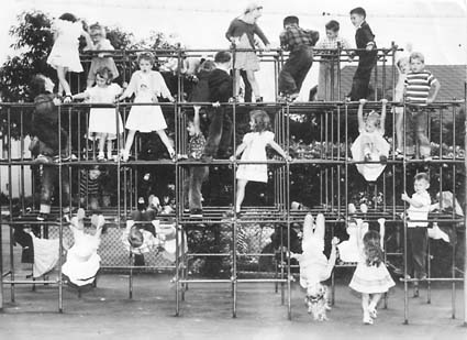 Emerson students at the playground a half-century ago. Contributed Photo.