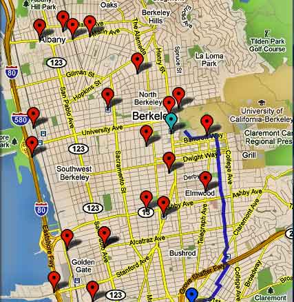 Locations of Energizer Stations in Berkeley.