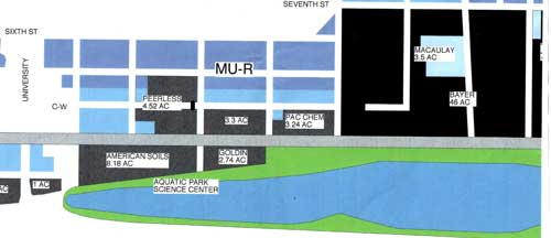 This is a schematic diagram of property ownership adjacent to Aquatic Park in Berkeley.