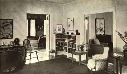 A picture from a promotional brochure shows an apartment interior at Cloyne Court.