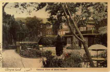 The courtyard garden at Cloyne Court during the Pierce years.