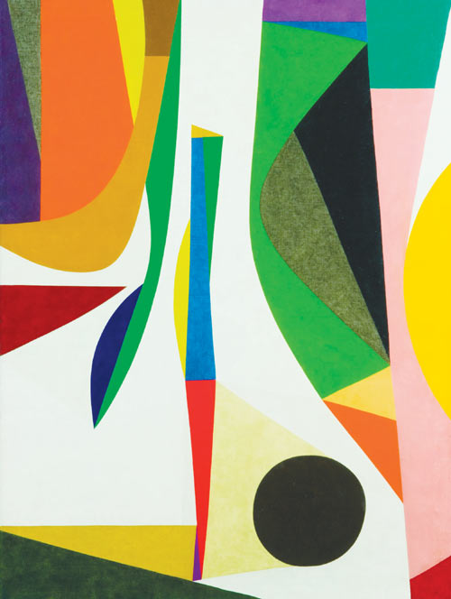 Frederick Hammersley, Up Within, 1957–58, oil on linen, 48 x 36 in.