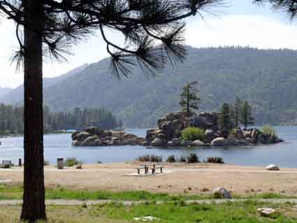 Boulder Bay, on the southern shore of Big Bear Lake.
