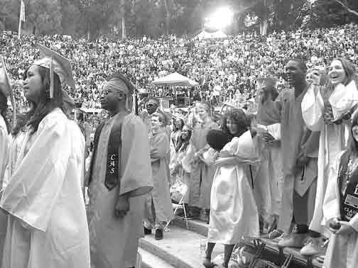 Berkeley High graduates celebrate at the Greek Theatre on friday
