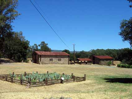 The two barns on the right were built for Jack London by a Sonoma contractor. The large barn on the left was left over from the Kohler-Frohling winery.