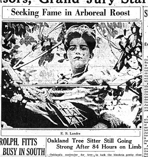 A clipping from the July 21, 1930, San Francisco Chronicle