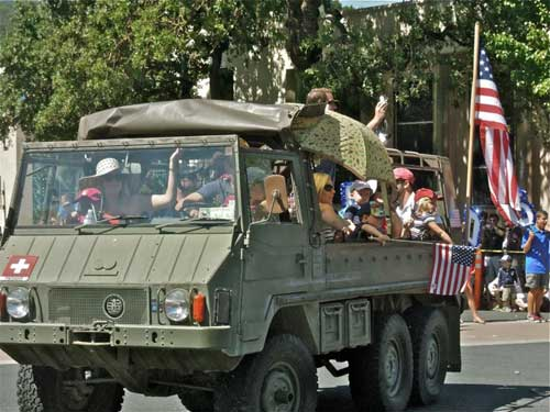 Everyone wants to drive a tank in Orinda, but try it here. July 4th, 2012.