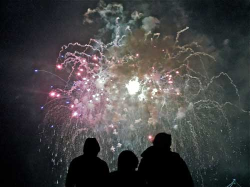 Money shot. Fireworks at Berkeley pier, 4th of July, 2012.