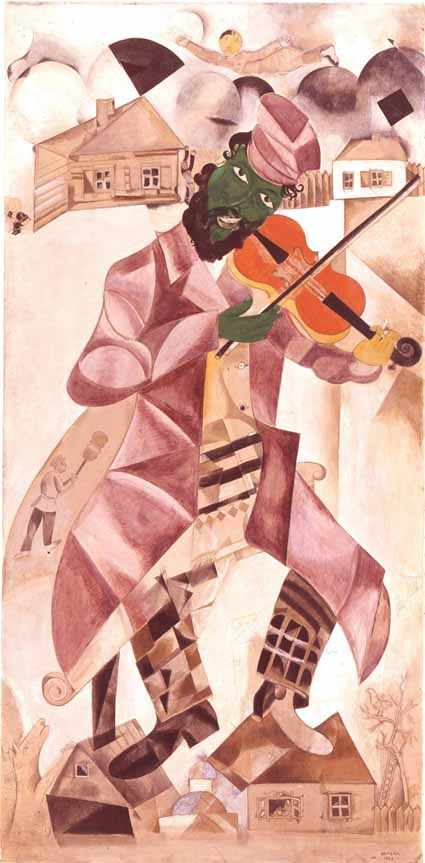 Music, 1920, by Marc Chagall.