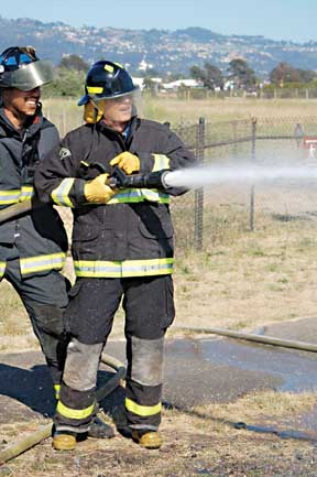 Mayor Plays Firefighter