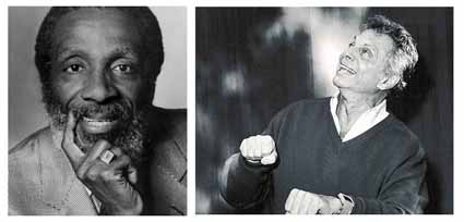 Dick Gregory, Mort Sahl.