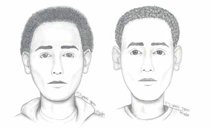 Sketches of the suspects in the Cedar (left) and Hillegass (right) sexual assaults.