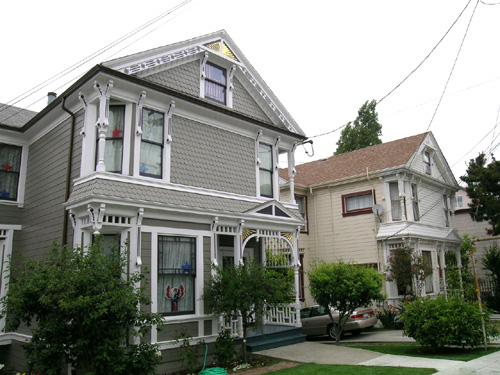 The two McCleave rental houses (l to r), 1510 and 1506 Oxford St.