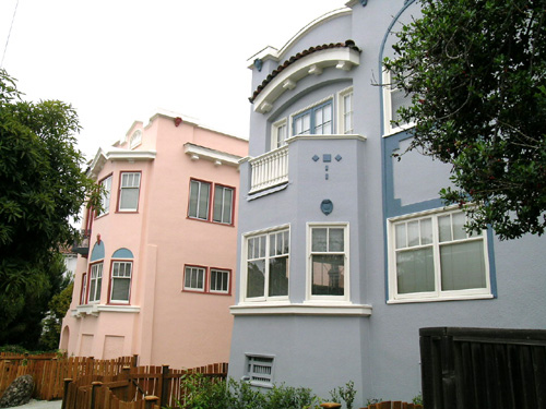 These Walnut St. apartment buildings, constructed in the 1920s, stand on the site of the McCleaves' first Berkeley home.