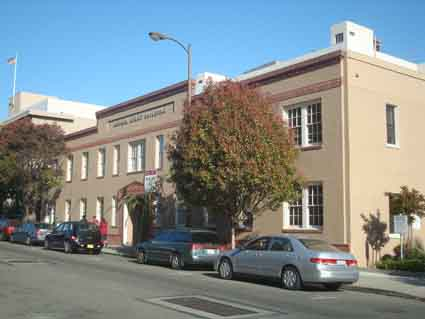 "Today's ""Addison Court Building"" at 1950 Addison west of Milvia was Berkeley's National Guard Armory in 1934 and a military headquarters against the waterfront strike."