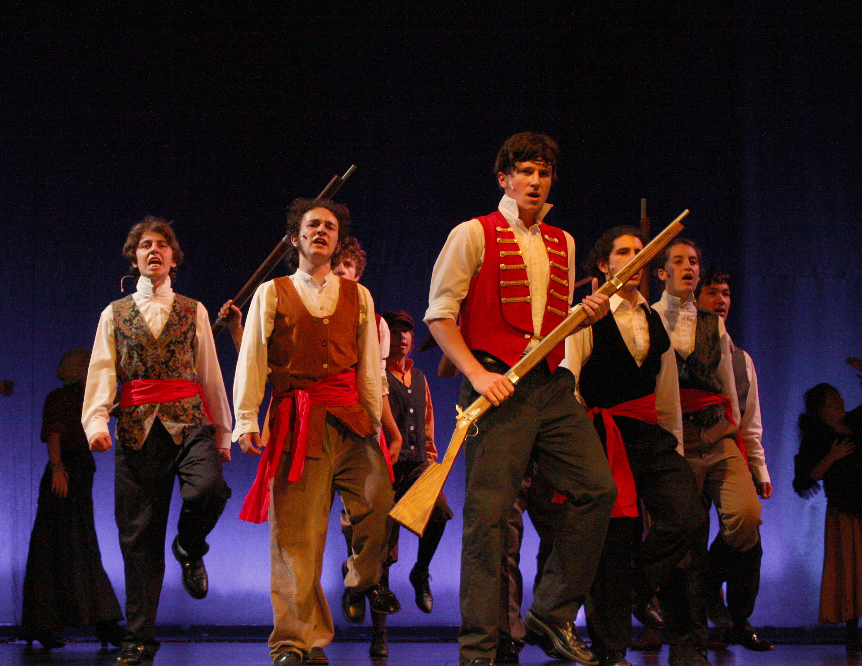 The ensemble of young actors, backed by a cadre of adult volunteers, makes Les Miserables a winning production.