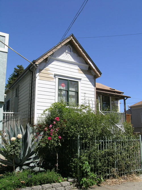 The modest Victorian cottage at 2439 Ninth St., currently undergoing expansion and renovation, was the object of property disputes between Honora Townsend Bentley and James Fitzpatrick.