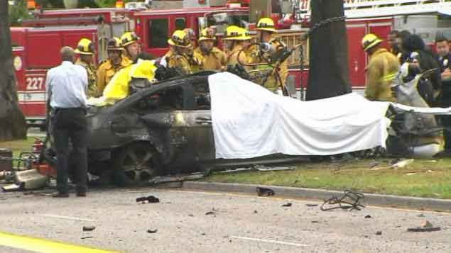 First responders at crash scene where reporter Michael Hastings died
