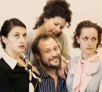 Richard Reinholdt as Norman, surrounded by the